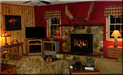Lodge Fireplace View